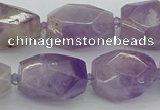 CNG5510 12*16mm - 15*25mm faceted nuggets lavender amethyst beads