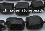 CNG5554 15.5 inches 15*18mm - 18*25mm nuggets black tourmaline beads