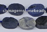 CNG5564 15.5 inches 12*16mm - 18*22mm freeform blue dumortierite beads