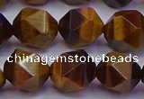 CNG5579 15.5 inches 12mm faceted nuggets yellow tiger eye beads