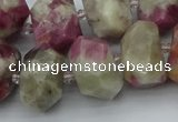 CNG5583 12*16mm - 15*20mm faceted nuggets pink tourmaline beads