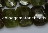 CNG5624 15.5 inches 15*20mm - 18*25mm faceted freeform green garnet beads