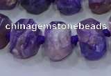 CNG5730 12*16mm - 13*18mm faceted nuggets charoite beads