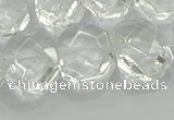 CNG5860 15.5 inches 8*12mm - 12*16mm faceted freeform white crystal beads