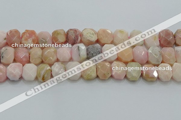 CNG5873 8*12mm - 12*16mm faceted freeform natural pink opal beads
