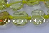 CNG5880 15.5 inches 10*12mm - 10*14mm faceted freeform lemon quartz beads