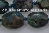 CNG5940 10*14mm - 12*16mm faceted freeform chrysocolla beads