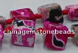 CNG6003 15.5 inches 12*16mm - 15*18mm nuggets agate beads