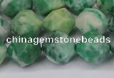 CNG6046 15.5 inches 12mm faceted nuggets Qinghai jade beads