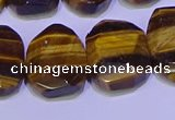 CNG6314 13*18mm - 15*20mm faceted freeform yellow tiger eye beads