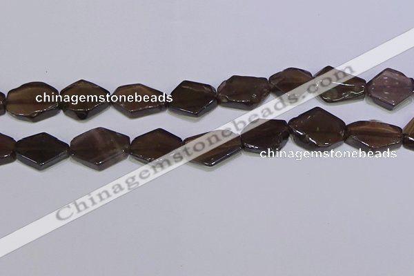 CNG6332 15.5 inches 14*18mm - 16*22mm freeform smoky quartz beads