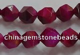 CNG6535 15.5 inches 8mm faceted nuggets red tiger eye beads