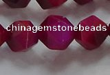 CNG6537 15.5 inches 12mm faceted nuggets red tiger eye beads