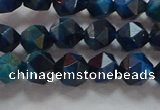CNG6538 15.5 inches 6mm faceted nuggets blue tiger eye beads
