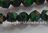 CNG6547 15.5 inches 8mm faceted nuggets green tiger eye beads