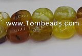 CNG6881 15.5 inches 12*16mm - 13*18mm nuggets yellow opal beads