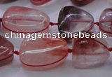 CNG693 15.5 inches 13*18mm - 15*16mm freeform pink quartz beads