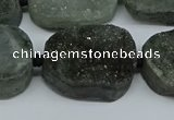 CNG7028 15.5 inches 20*28mm - 25*35mm freeform druzy agate beads