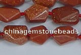 CNG7135 15.5 inches 6*10mm - 10*14mm faceted nuggets glodstone beads