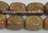 CNG728 15.5 inches 15*18mm nuggets New unakite beads wholesale