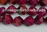 CNG7321 15.5 inches 8mm faceted nuggets red tiger eye beads
