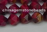 CNG7322 15.5 inches 10mm faceted nuggets red tiger eye beads