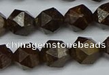 CNG7442 15.5 inches 10mm faceted nuggets bronzite gemstone beads