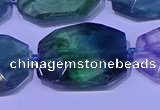 CNG7521 15.5 inches 18*25mm - 25*35mm faceted freeform fluorite beads