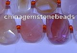 CNG7622 13*18mm - 15*20mm faceted freeform red botswana agate beads