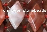 CNG7712 15.5 inches 13*20mm - 15*25mm faceted freeform red agate beads