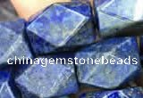 CNG7849 15.5 inches 12*16mm - 13*18mm faceted nuggets lapis lazuli beads