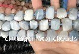 CNG7902 15.5 inches 12*16mm - 15*20mm faceted nuggets aquamarine beads
