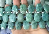 CNG7922 15.5 inches 13*18mm - 15*25mm faceted freeform amazonite beads