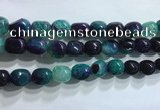CNG8162 15.5 inches 10*14mm nuggets agate beads wholesale