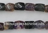 CNG818 15.5 inches 9*12mm faceted nuggets fluorite beads