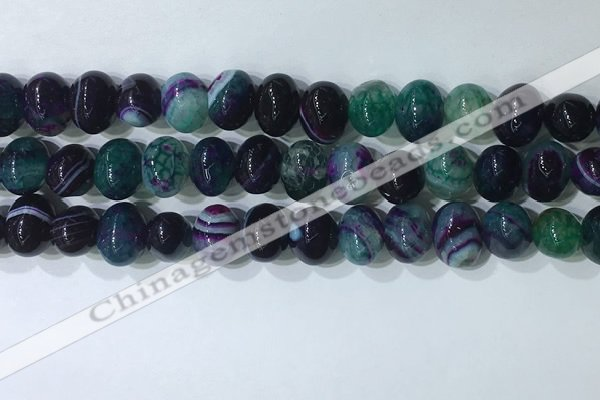 CNG8354 15.5 inches 10*12mm nuggets striped agate beads wholesale