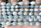 CNG8509 15.5 inches 6*8mm - 8*12mm faceted nuggets aquamarine beads