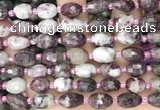 CNG8535 15.5 inches 8*10mm - 9*13mm faceted nuggets tourmaline beads
