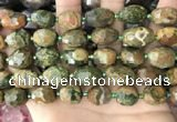 CNG8540 15.5 inches 10*14mm - 12*16mm faceted nuggets rhyolite beads