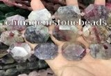 CNG8558 22*30mm - 25*35mm faceted freeform tourmaline beads