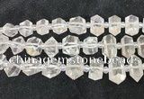 CNG8670 12*20mm - 20*33mm faceted nuggets white crystal beads
