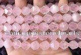 CNG8694 15.5 inches 12mm faceted nuggets rose quartz beads
