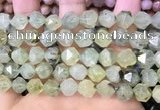 CNG8730 15.5 inches 10mm faceted nuggets prehnite gemstone beads