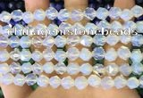 CNG8760 15.5 inches 8mm faceted nuggets opalite beads wholesale