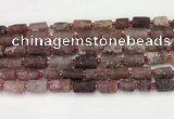 CNG8853 8*12mm - 10*16mm nuggets matte strawberry quartz beads