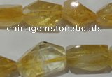 CNG902 15.5 inches 13*18mm – 15*25mm faceted nuggets citrine beads