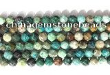 CNG9087 15.5 inches 8mm faceted nuggets chrysocolla gemstone beads