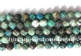 CNG9088 15.5 inches 10mm faceted nuggets chrysocolla gemstone beads