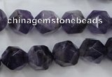 CNG931 15 inches 14mm faceted nuggets amethyst gemstone beads