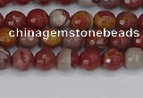 CNJ308 15.5 inches 4mm faceted round noreena jasper beads